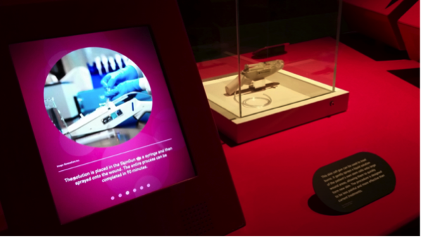 RenovaCare SkinGun™ for Spraying Stem Cells, on Exhibit at the Science Museum (UK)
